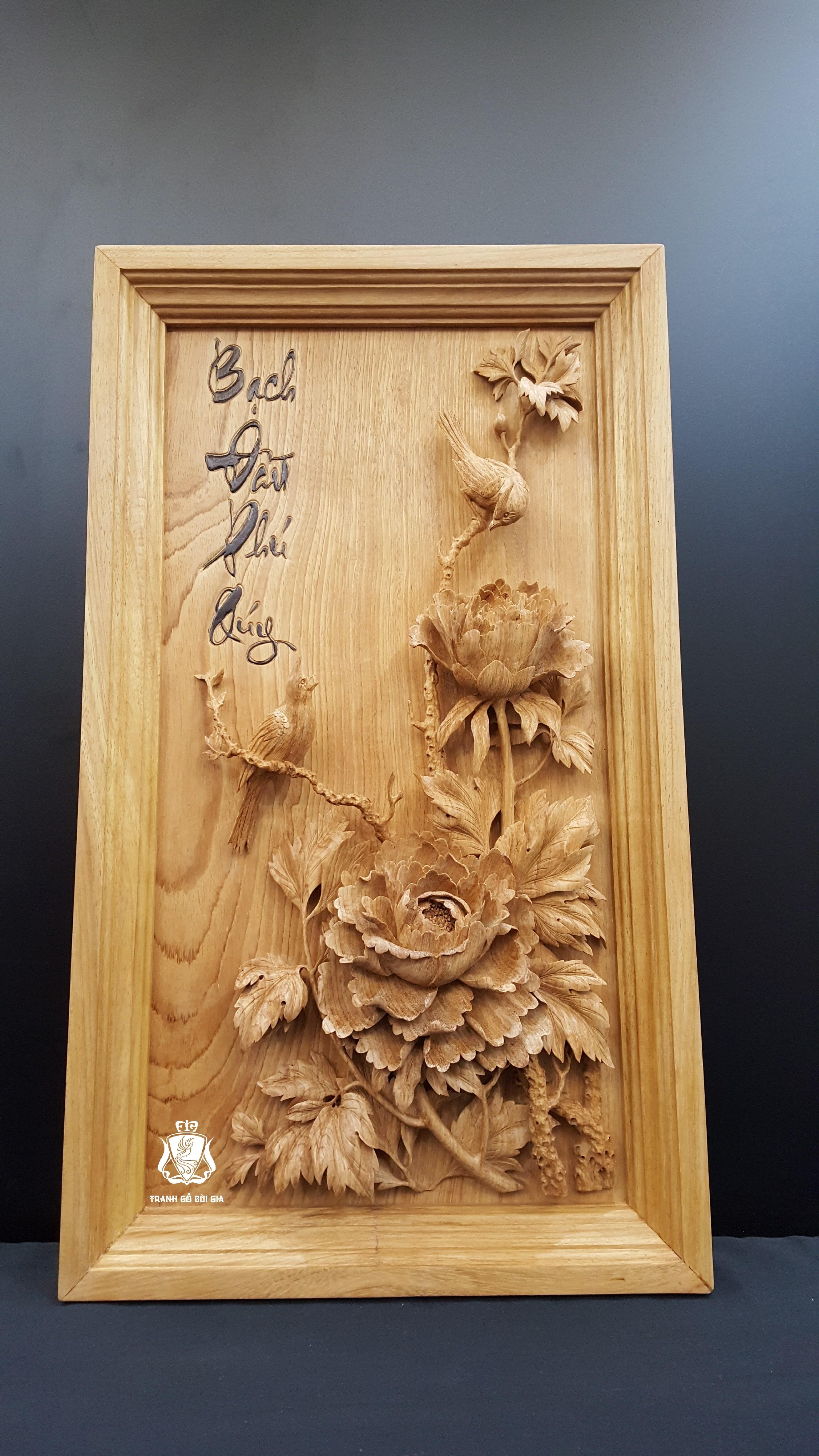 Tranh gỗ Phú Qúy Cát Tường