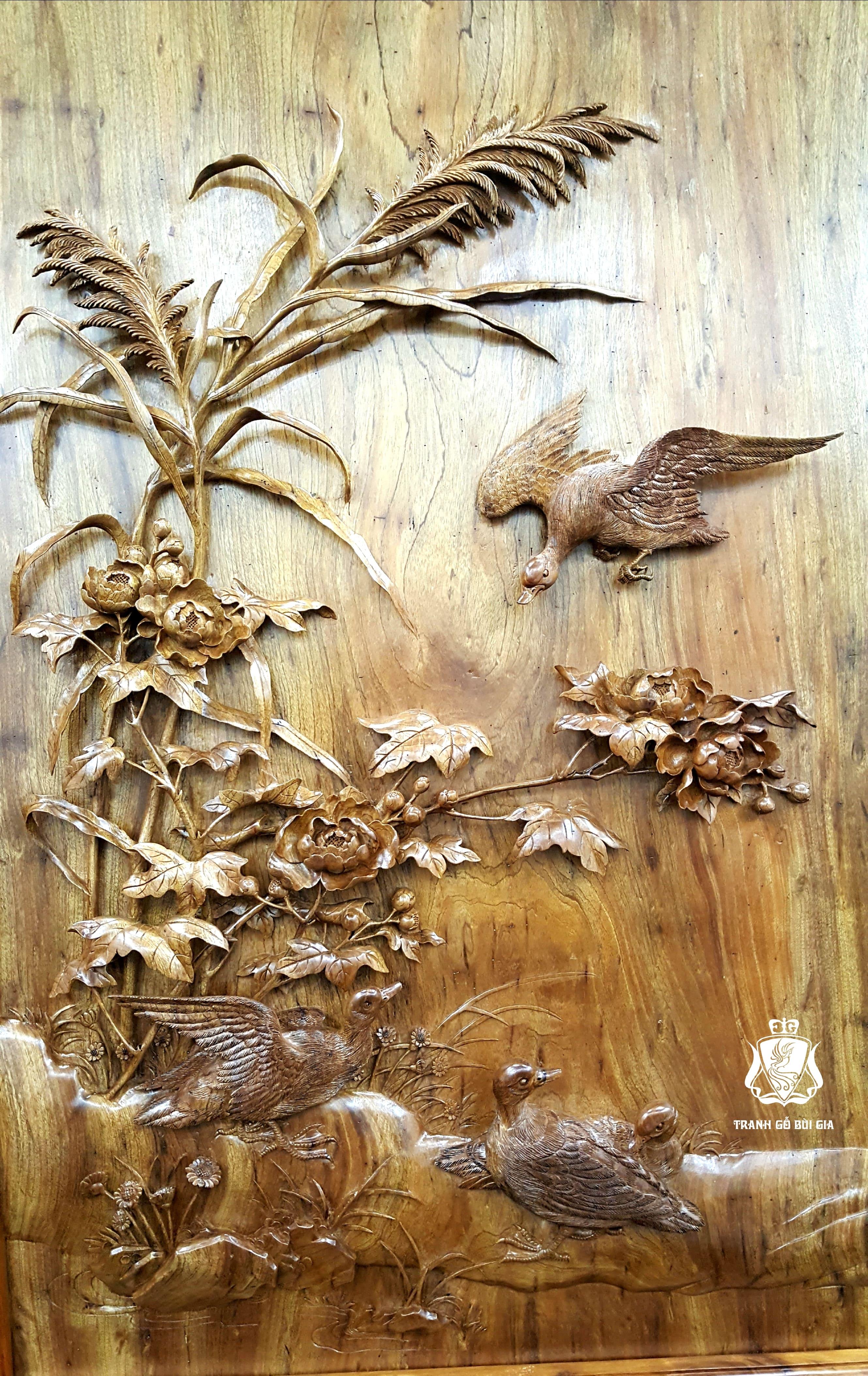 Tranh gỗ Phi Minh Túc Thực.