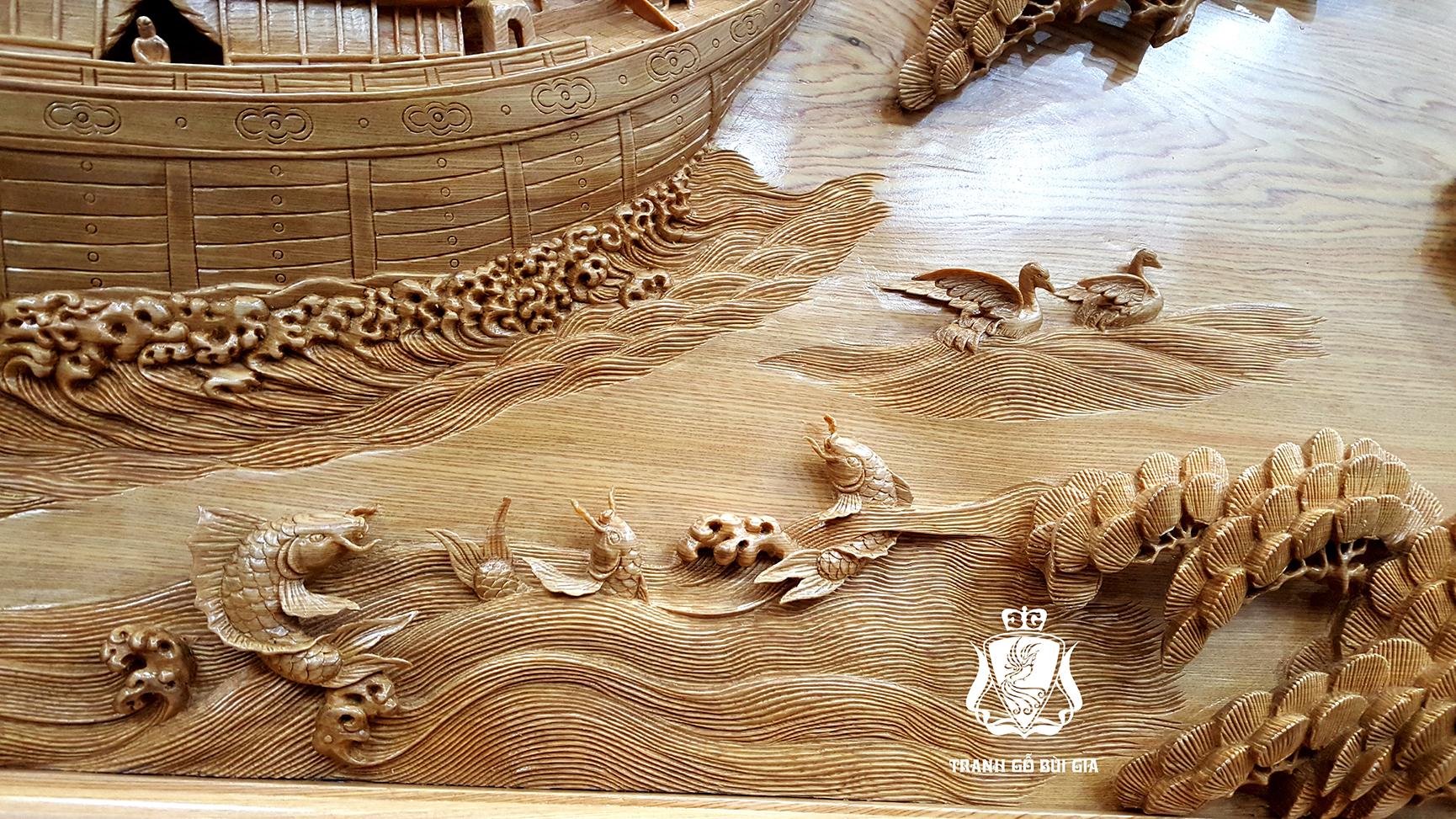 Tranh gỗ Thuận Buồm Xuôi Gió. Mẫu Tranh Thuận Buồm Phong Thủy Số 1 Việt Nam