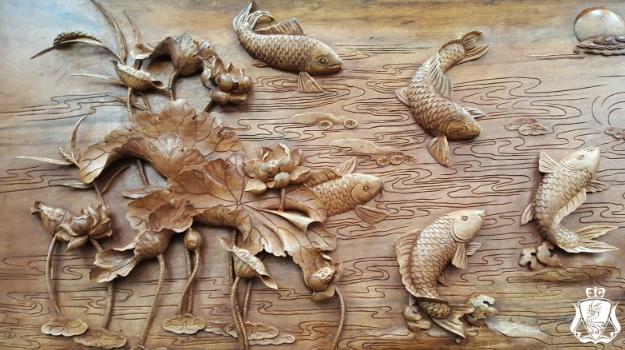 Tranh gỗ thủ công Việt Nam. Những tuyệt tác tranh gỗ giữa đời thực - Tranh gỗ Bùi Gia