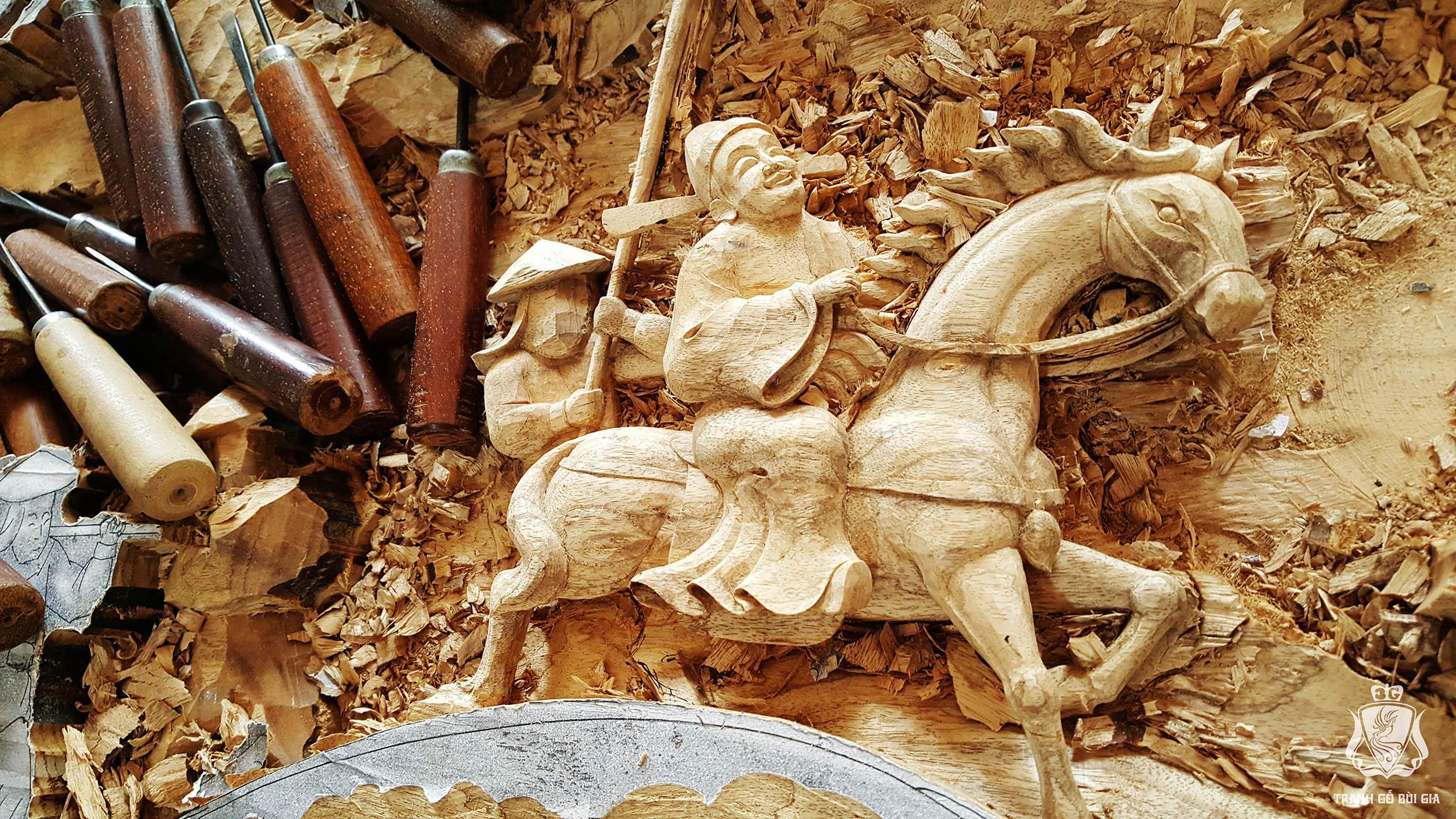 Tranh Vinh Quy Bái Tổ. Sự Tích, Ý Nghĩa Của Bức Tranh Đục Thủ Công Tuyệt Hảo Này.